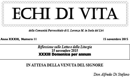 San Loreno Martire IT - Echi Di Vita - n10 15 Novembre 2015