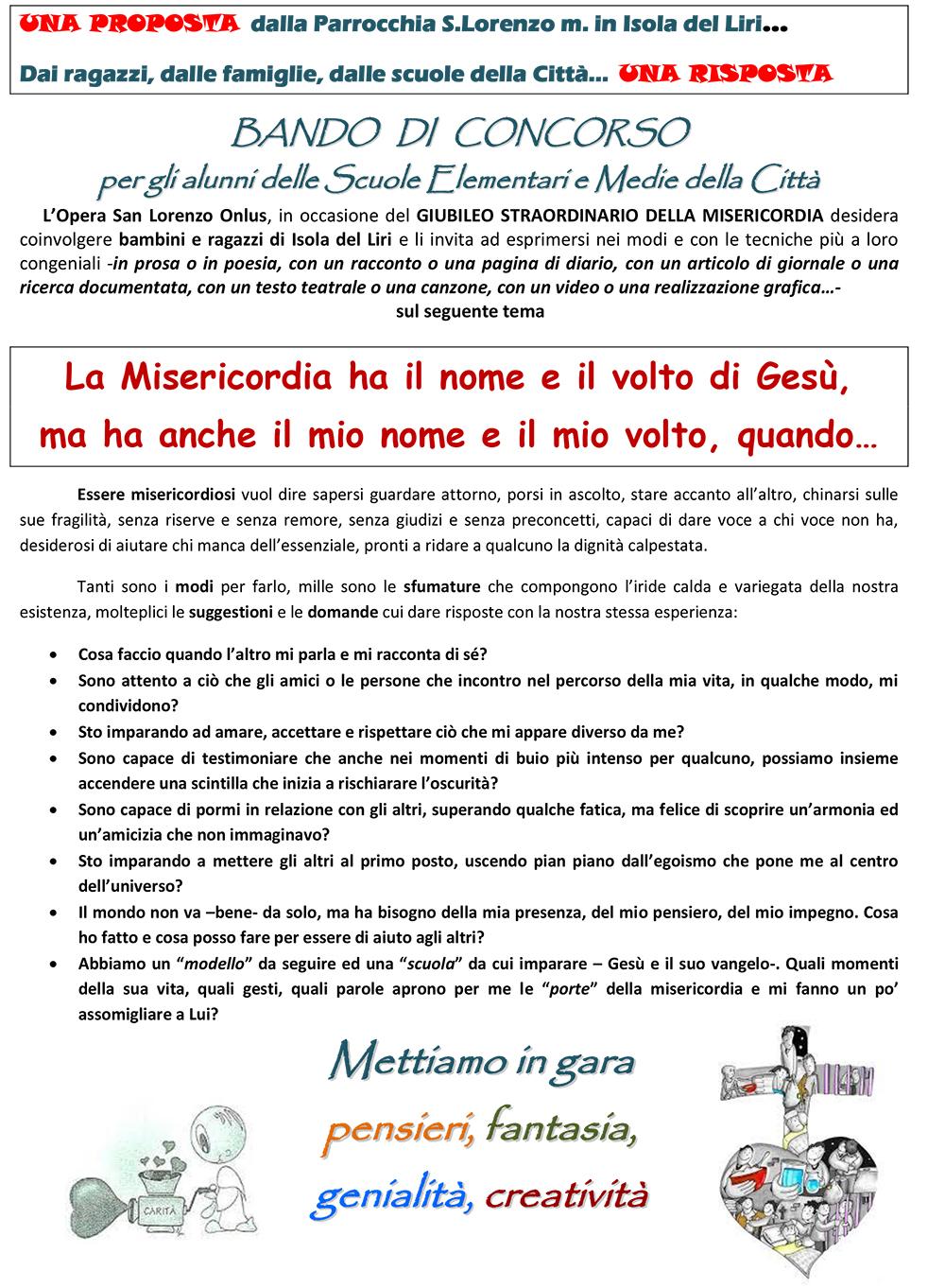 San Lorenzo Martire ® - 2016 04 08 - Avvisi Echi di Vita Foglio UNO