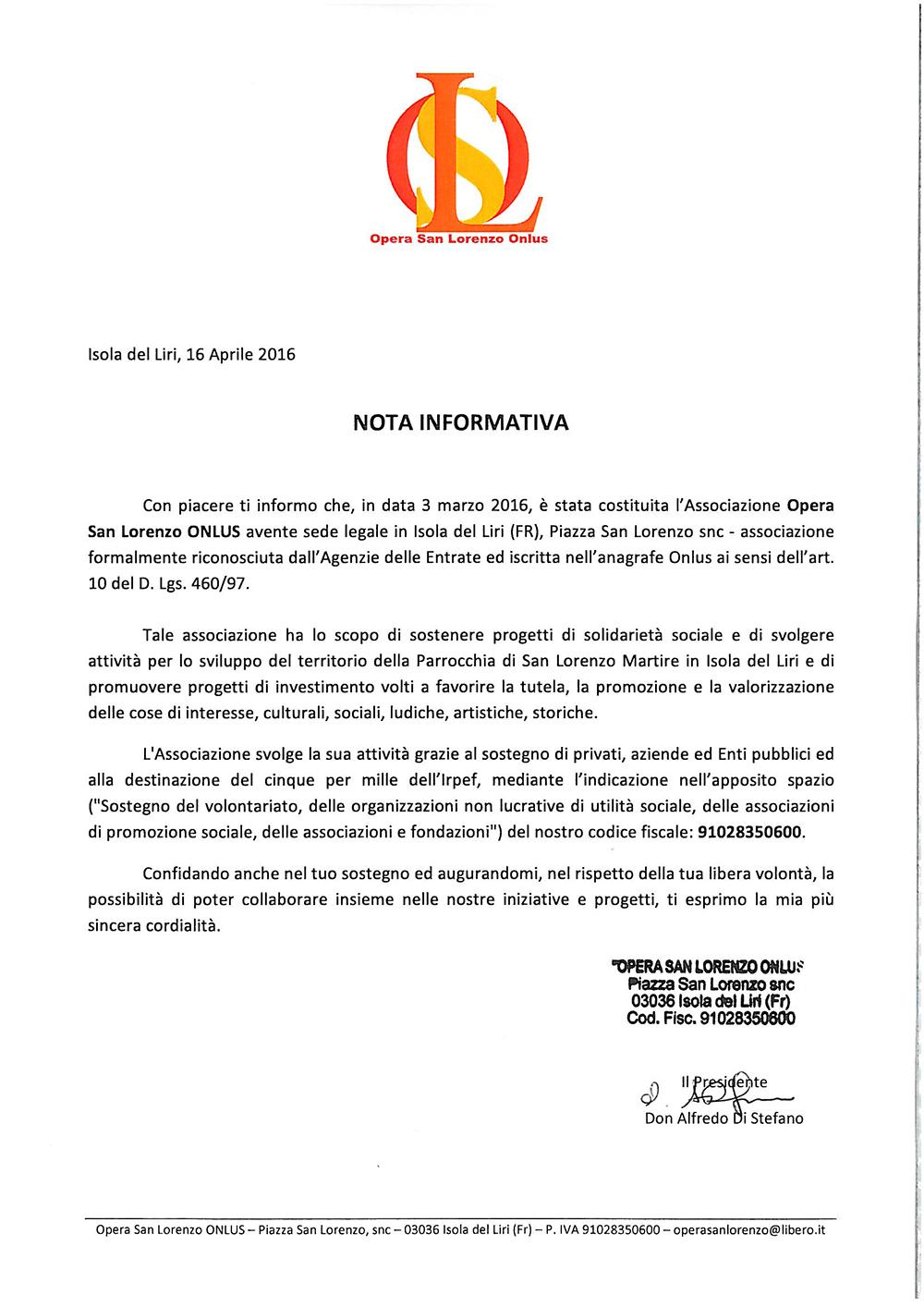 San Lorenzo Martire ® - 2016 04 19 Presentzione Ass Opera San Lorenzo OnLus