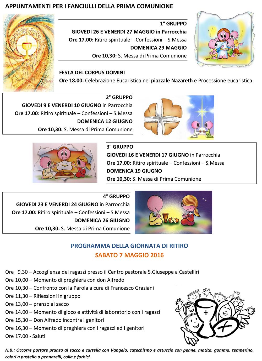 San Lorenzo Martire ® - 2016 04 24 - APPUNTAMENTI fine catechismo 2016 - 2