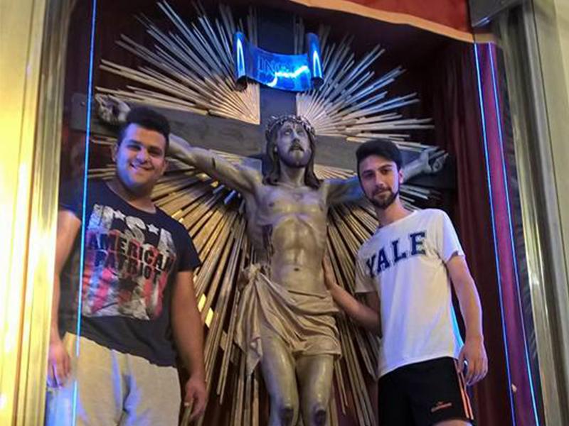 San Lorenzo Parrocchia - Riposizionamento SS Crocifisso - FaceBook 000 Copertina
