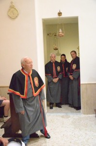 2018 07 06 - San Lorenzo Parrochia Isola Liri - Messa Vestizione Confratelli Processione - 003