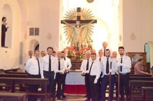 2018 07 06 - San Lorenzo Parrochia Isola Liri - Messa Vestizione Confratelli Processione - 006