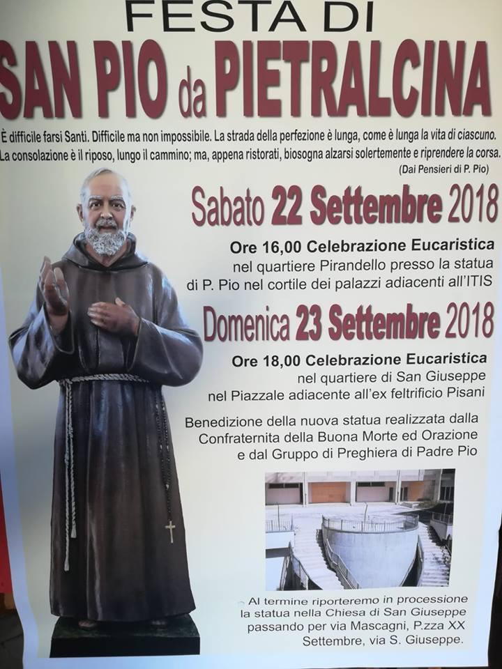 2018 09 23 - San Lorenzo Parrochia Isola Liri - Benedizione e Collocamento della statua di PAdre Pio